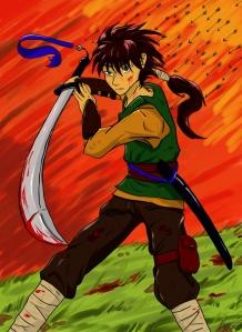Warrior in Watercolour