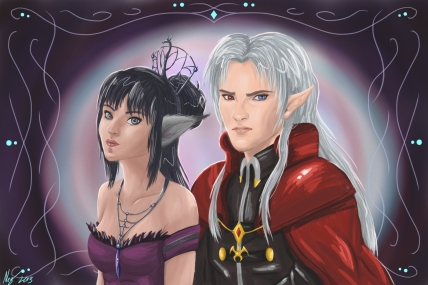 Portrait of Lady Kel'koreen and Lord Cruxis