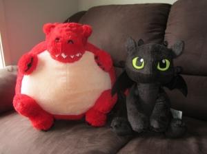 Fa'Luffy and his new Night Fury pal, Fang!
