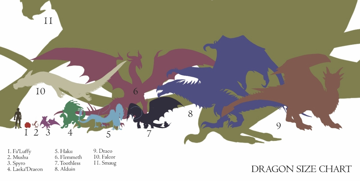Dragon Size Chart! | Whims from Valadae