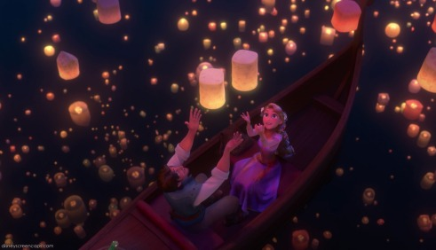 Paper lantern traditions are a dazzling visual spectacle (I love this scene from Tangled).