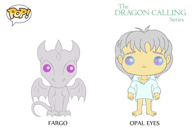 DC Pop Vinyl Concept Art Fargo and Opal Eyes 2