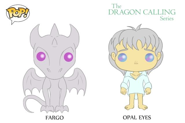 DC Pop Vinyl Concept Art Fargo and Opal Eyes