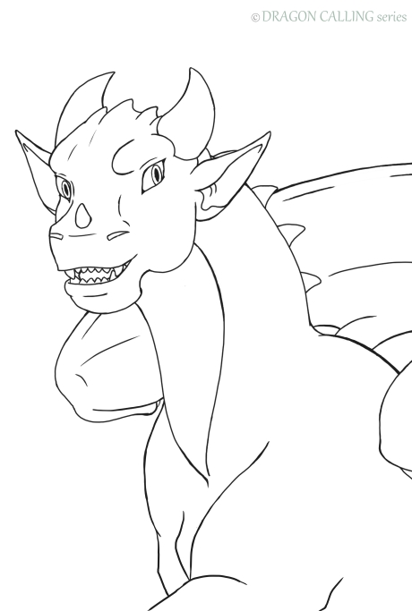 Line Art Dragon Calling LaekaDraeon