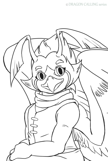 Line Art Dragon Calling Maikor