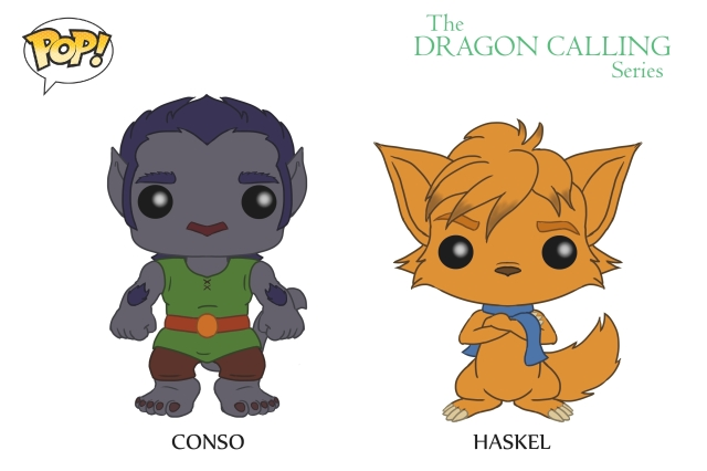 DC Pop Vinyl Concept Art Conso and Haskel