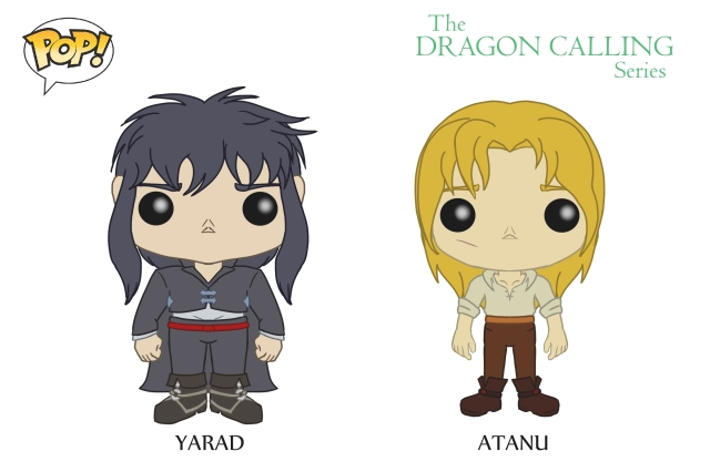 DC Pop Vinyl Concept Art Yarad and Atanu