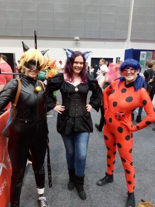 N, Ladybug and Cat Noir