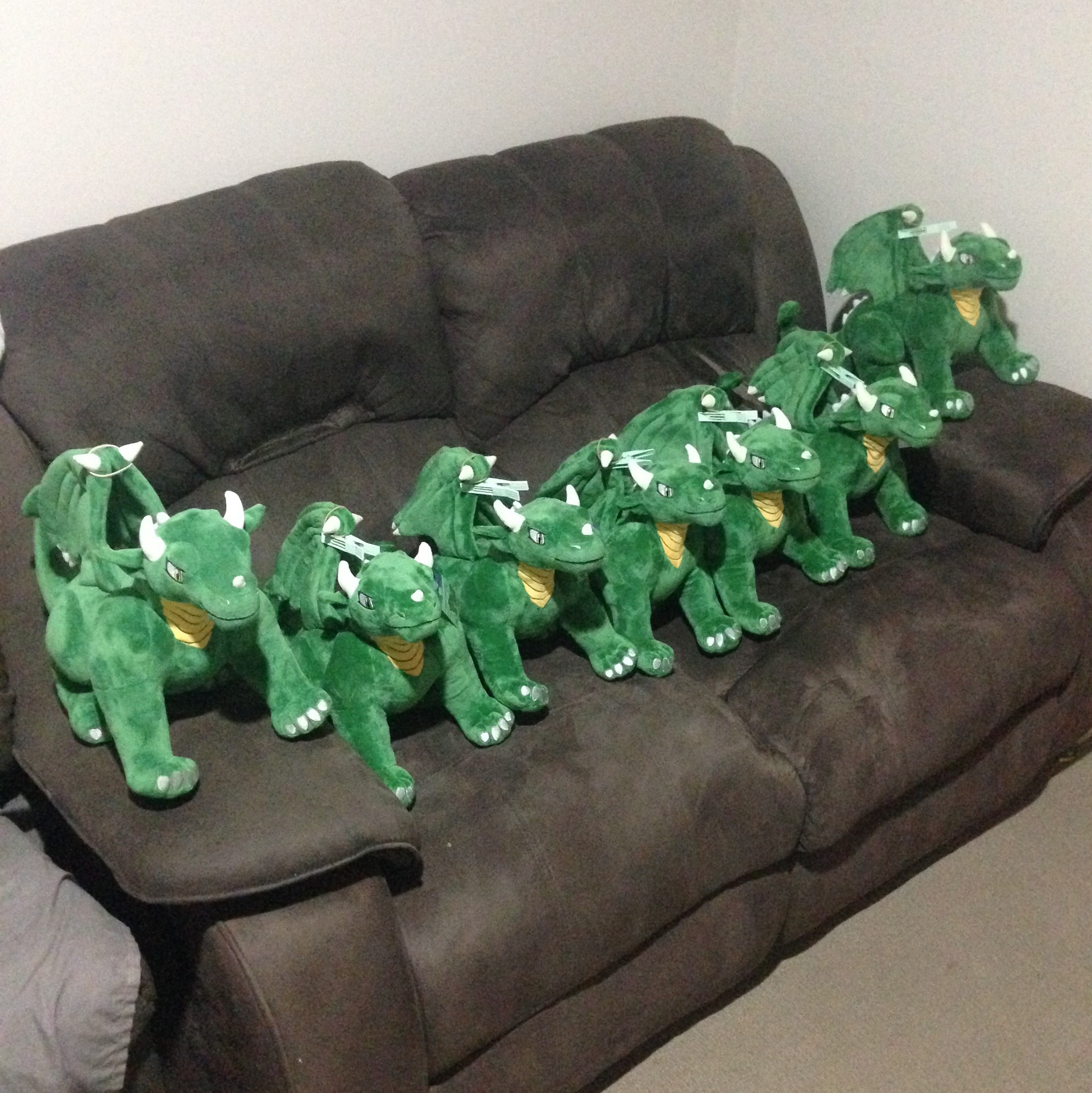 All these dragons in a row square