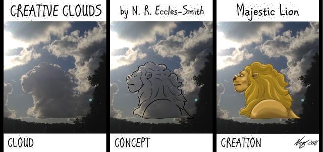 Creative Clouds Majestic Lion