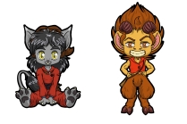 Chibi Pins Ghinzel and Norf