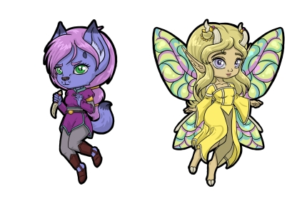 Chibi Pins Shifra and Megandel