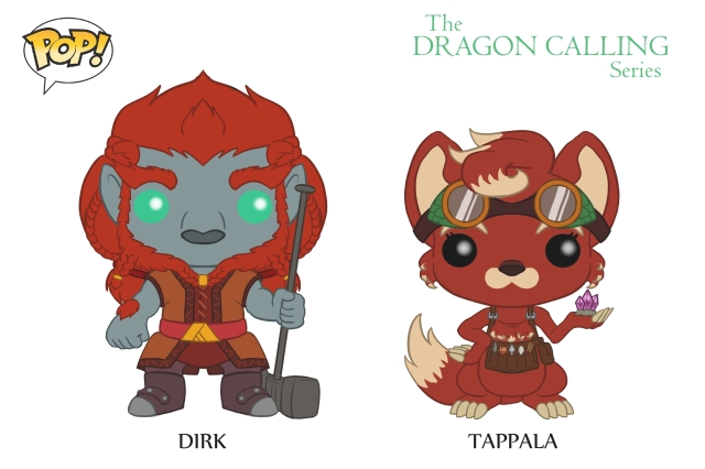 DC Pop Vinyl Concept Art Dirk and Tappala